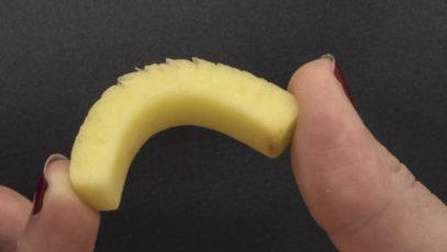 Potato slice untreated feathering